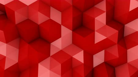 geometric : Red triangle polygons. Computer generated seamless loop geometric background. 4k UHD (3840x2160) Stock Footage