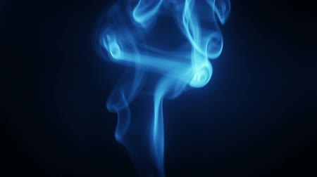 dinamik : Blue smoke flows. Seamless loop soft background Stok Video