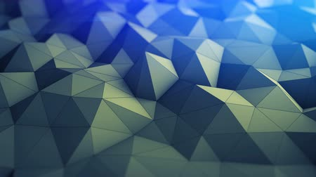 техно : Polygonal geometric background. Semless loop abstract 3D render smooth animation with DOF. 4k UHD (3840x2160)