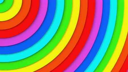 sima : Rainbow concentric circles. Seamless loop smooth 3D animation. Abstract background 4k UHD (3840x2160)