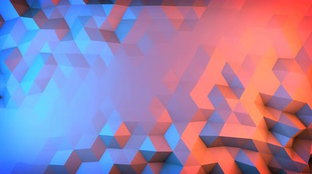 ve tvaru : Low poly gradient surface vibrating. Semless loop smooth animation with motion blur. Abstract 3D render 4k UHD (3840x2160)