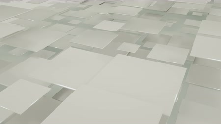 átfedés : Flying squares abstract geometric background. Seamless loop 3D render animation 4k UHD 3840x2160