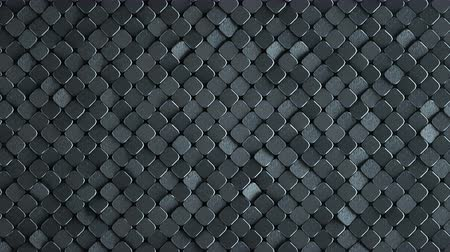 rhombic : Rhombus pattern with rough metallic grey surface. Abstract computer graphic. 3D render seamless loop animation 4k UHD 3840x2160