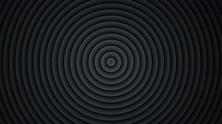 hipnoza : Concentric black circles expanding. Seamless loop 3D render animation 4k UHD 3840x2160 Wideo