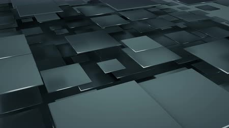 прямоугольник : Flying black squares abstract geometric background. Seamless loop 3D render animation 4k UHD 3840x2160