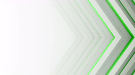 periódico : Green lines and free space. Computer generated abstract motion backgroumd. Seamless loop 3D render smooth animation 4k UHD (3840x2160)