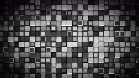 extrude : Wall of black and white cubes. Abstract motion background. 3D render seamless loop animation 4k UHD 3840x2160