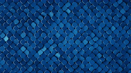 arranhão : Rhombus pattern with grunge metallic blue surface. Abstract computer graphic. 3D render seamless loop animation 4k UHD 3840x2160