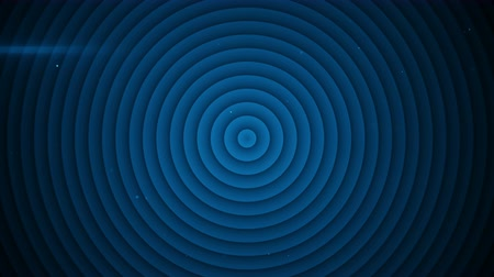 hipnoza : Concentric blue circles expanding. Seamless loop 3D render animation 4k UHD 3840x2160