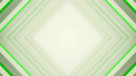periódico : Frame of white and green rhombic lines. Computer generated seamless loop abstract background. 3D render smooth animation 4k UHD (3840x2160)
