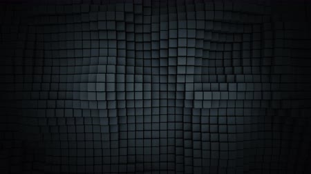 extrude : Wall of black cubes. Abstract geometric background. 3D render seamless loop animation 4k UHD 3840x2160 Stock Footage