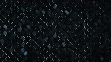 rhombic : Rhombus pattern with dark rough metallic surface. Abstract computer graphic. 3D render seamless loop animation 4k UHD 3840x2160