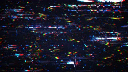 ruído : Glitch effect. Pixelated noise signal on digital screen. Seamless loop animation 4k UHD 3840x2160