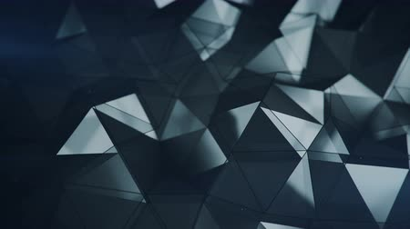 doğrusal : Low poly glass surface. Abstract polygonal shape. 3D rendering with DOF. Seamless loop animation 4k UHD (3840x2160)