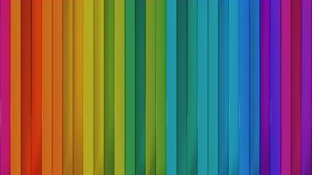 vertical stripes : Bright colorful vertical lines. Computer generated abstract motion background. Seamless loop 3D render animation