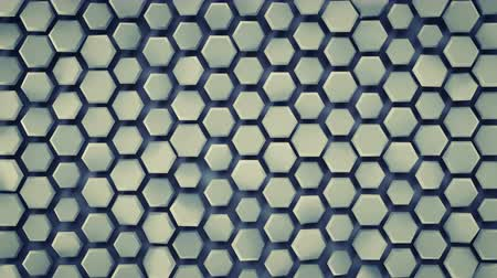 rács : Hexagonal background. Computer generated abstract motion graphics. Seamless loop 3D render animation 4k UHD (3840x2160)