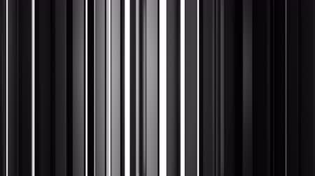 vertical stripes : White and black vertical bars. Computer generated abstract motion background. Seamless loop 3D render animation
