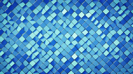 rhombic : Blue rhombus pattern surface. Abstract computer graphics. 3D render seamless loop animation 4k UHD 3840x2160 Stock Footage