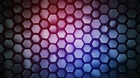 extrude : Purple abstract geometric background with hexagons. Computer generated abstract motion graphics. Seamless loop 3D render animation 4k UHD (3840x2160)