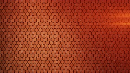 hexagon pattern : Red hexagonal background. Computer generated abstract motion graphics. Seamless loop 3D render animation 4k UHD (3840x2160)