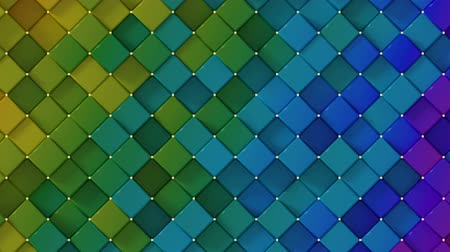 rhombic : Rainbow spectrum gradient rhombs. Abstract motion graphics. Seamless loop 3D render animation
