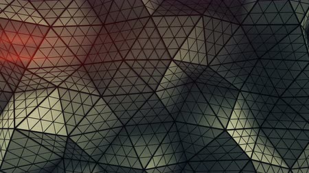 subdivided : Distorted low poly shape. Futuristic polygonal structure with lines. Modern abstract motion background. Seamless loop 3D render animation 4k UHD 3840x2160