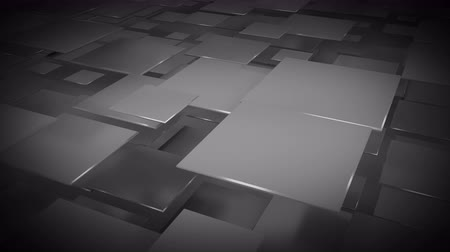 sobreposição : Flying dark gray squares abstract geometric background. Seamless loop 3D render animation 4k UHD 3840x2160