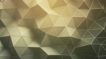 sepia : Triangulated polygonal surface. Abstract 3D render of futuristic low poly shape. Seamless loop animation 4k UHD (3840x2160)