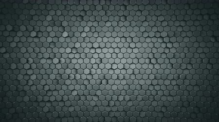extrude : Abstract geometric background with grey hexagons. Computer generated abstract motion graphics. Seamless loop 3D render animation 4k UHD (3840x2160)