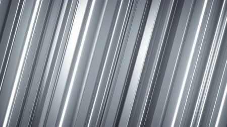 vertical stripes : White glossy bars turning. Abstract motion graphics. Seamless loop 3D render animation Stock Footage