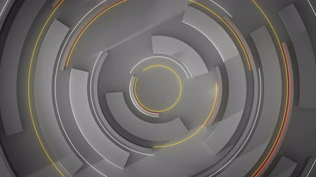 вихрь : Glowing futuristic circular shape. Computer generated abstract motion background. Seamless loop 3D render animation