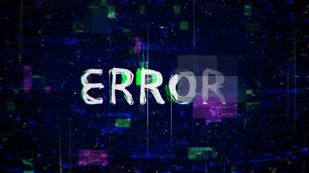 piraterij : Error text with noise and glitching. Seamless loop animation Stockvideo
