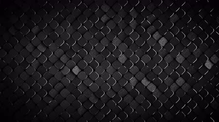 rhombic : Rhombus pattern with rough metallic dark grey surface. Abstract computer graphic. 3D render seamless loop animation 4k UHD 3840x2160