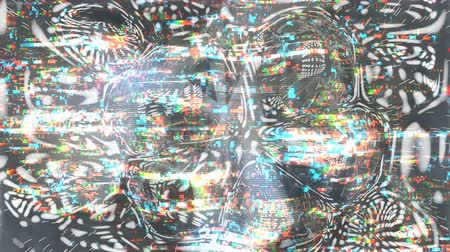 defect : Glitching waves with pixel noise. Data failure background. Seamless loop animation