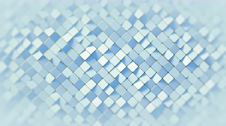 алмаз : White rhomb mosaic surface. Abstract motion background. 3D render seamless loop animation 4k UHD 3840x2160