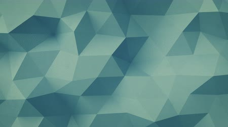 böjti réce : Grained blue-green structure with triangular polygons. Seamless loop 3D render animation