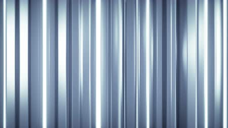 vertical stripes : Glossy vertical bars with reflections. Abstract motion graphics. Seamless loop 3D render animation