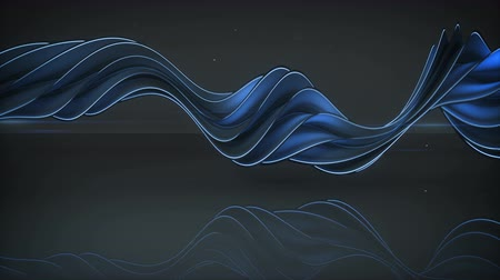 컬 : Light emitting blue twisted spiral shape spinning. Computer generated seamless loop animation. Abstract geometric 3D render 4k UHD (3840x2160) 무비클립