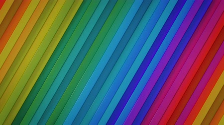 extrude : Rainbow spectrum gradient lines. Abstract motion graphics. Seamless loop 3D render animation