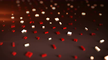 hi fi : Endless surface with abstract symbols. Seamless loop dolly shot animation. 3D render with DOF 4k UHD 3840x2160
