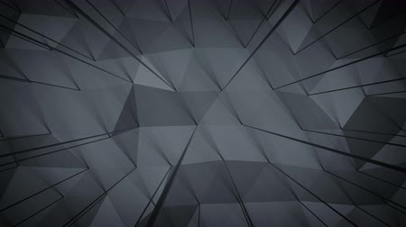 линии : Dark gray polygonal shape with lines. Abstract geometric background. Seamless loop 3D render animation