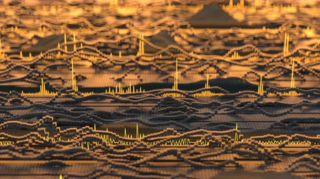 amplificador : Visualization of audio wave. Digital spectrum analyzer. Seamless loop 3D render animation