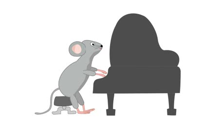 zongora : New Years card stock footage for 2020. Rats are holding a concert to celebrate the New Year.
