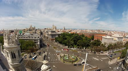 madryt : Spain. Madrid. Plaza Cibeles. View from the top of Palacio Comunicaciones