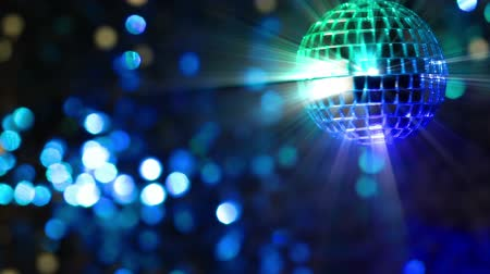 blur : Colorful abstract background. Mirror ball in the foreground. Seamless loop