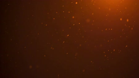 pomarańcza : snow falling in front of orange lantern light shoot in raw, can be used as background Wideo