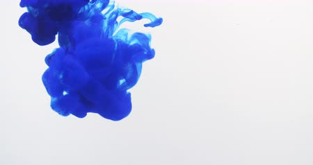 inkoust : blue ink flow in water 4k prores footage