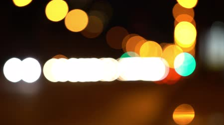 boate : defocused traffic light in night