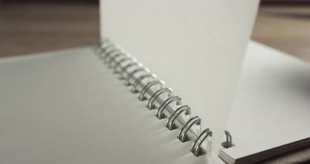 çevirmek : flipping page of notebook in 60fps slow motion Stok Video