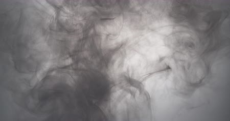 краситель : gray paint floating in water like smoke cloud